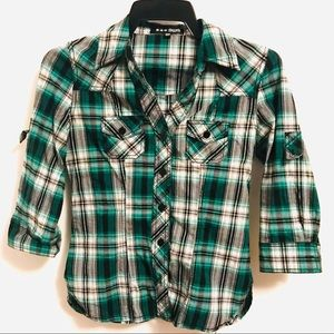 Tops - Plaid Top Size S